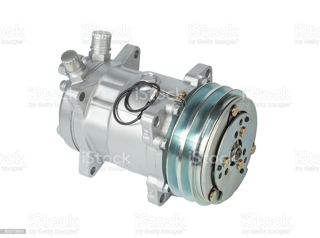 Air compressor isolated stock photo