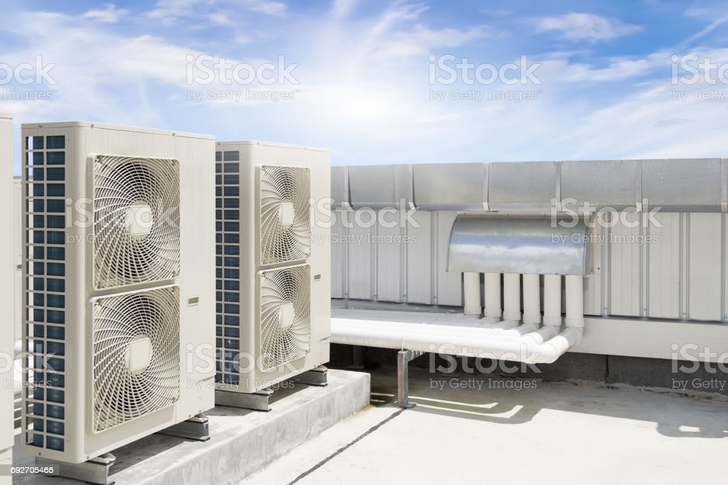 Air compressor machine stock photo