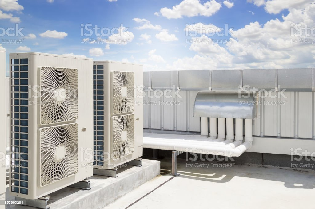 Air compressor machine - foto stock