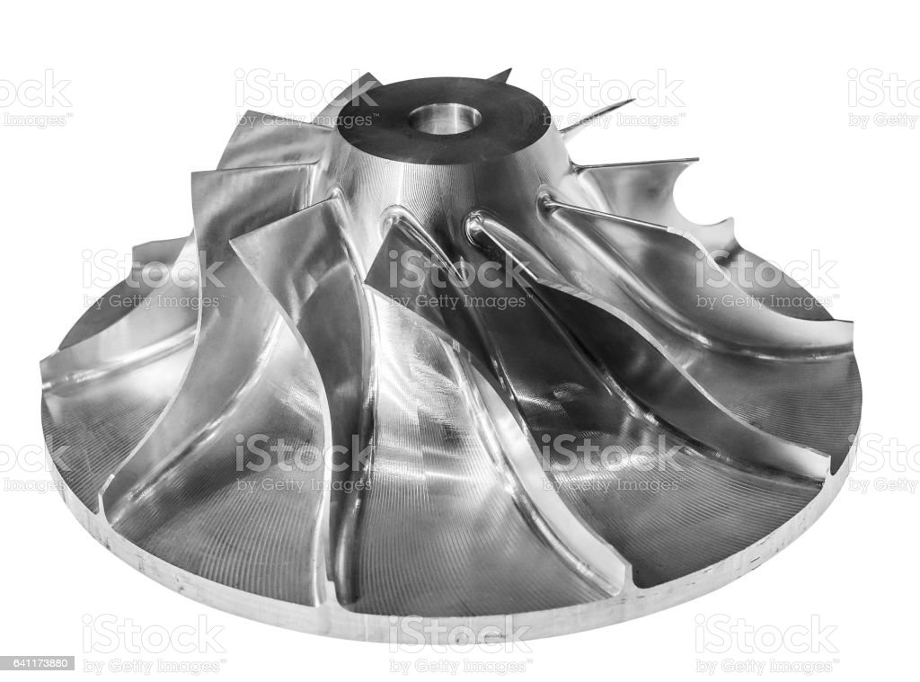 Air compressor rotor. stock photo