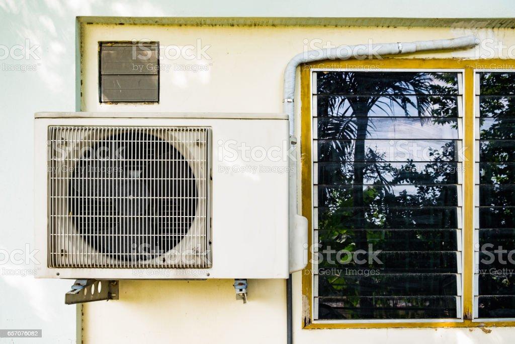 Air compressor window vents stock photo
