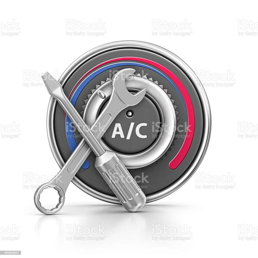 air condition and work tool royalty-free stock photo