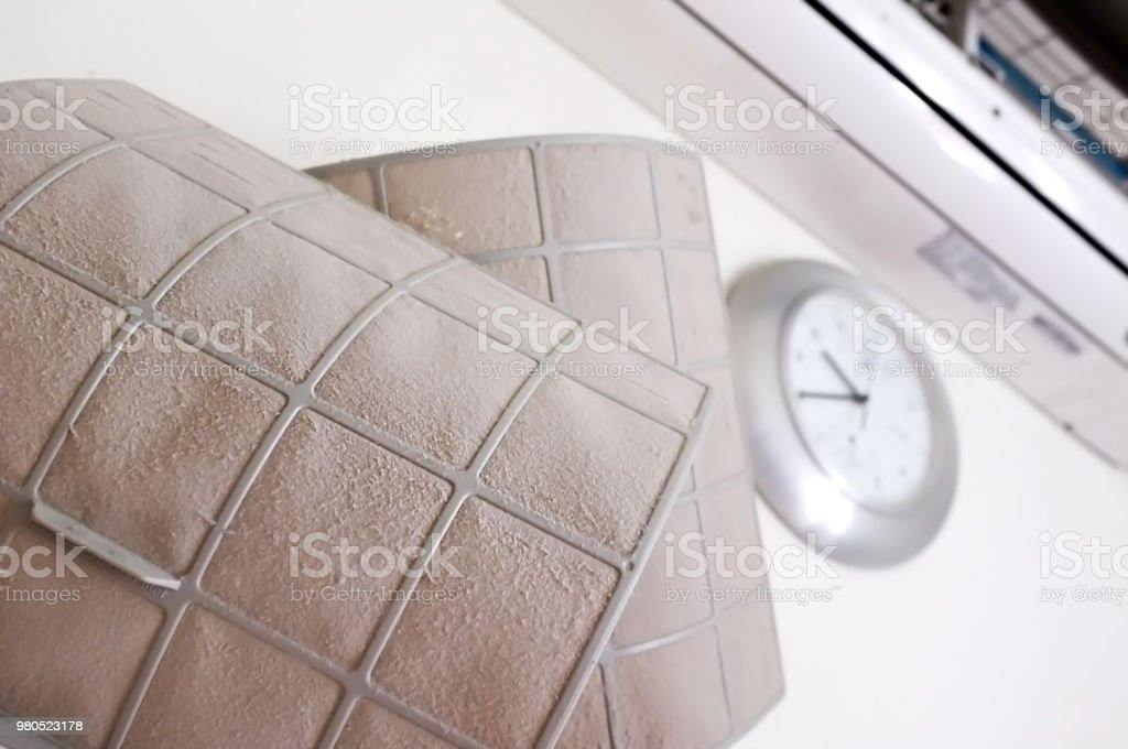 Air condition filter stock photo