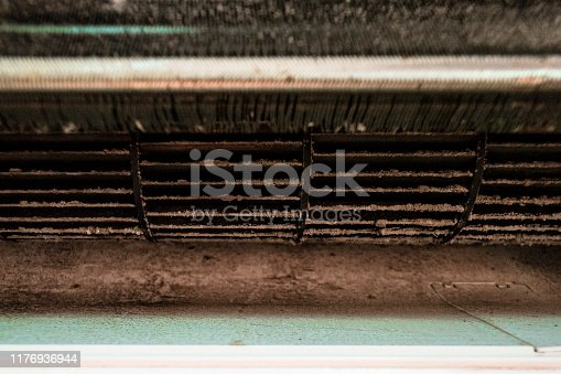 istock Air condition that is very dusty. 1176936944