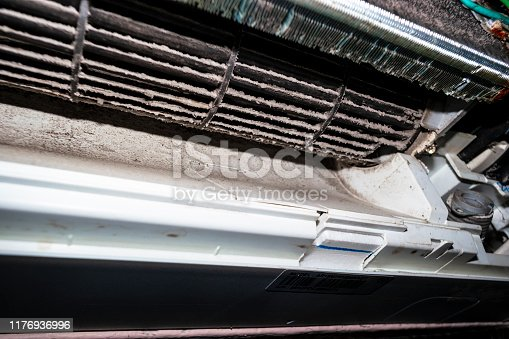 istock Air condition that is very dusty. 1176936996