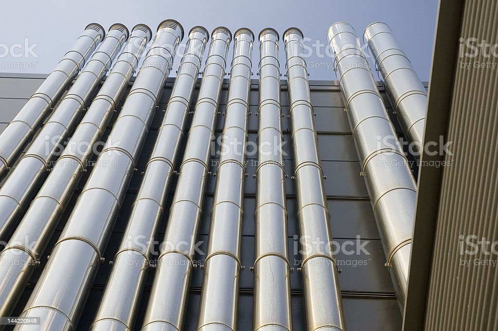 Air condition tubes royalty-free stock photo