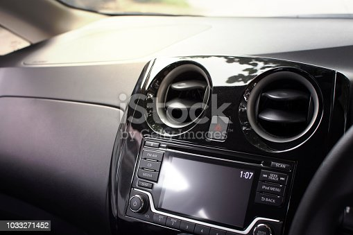 istock Air condition vent  for adjust airflow. 1033271452