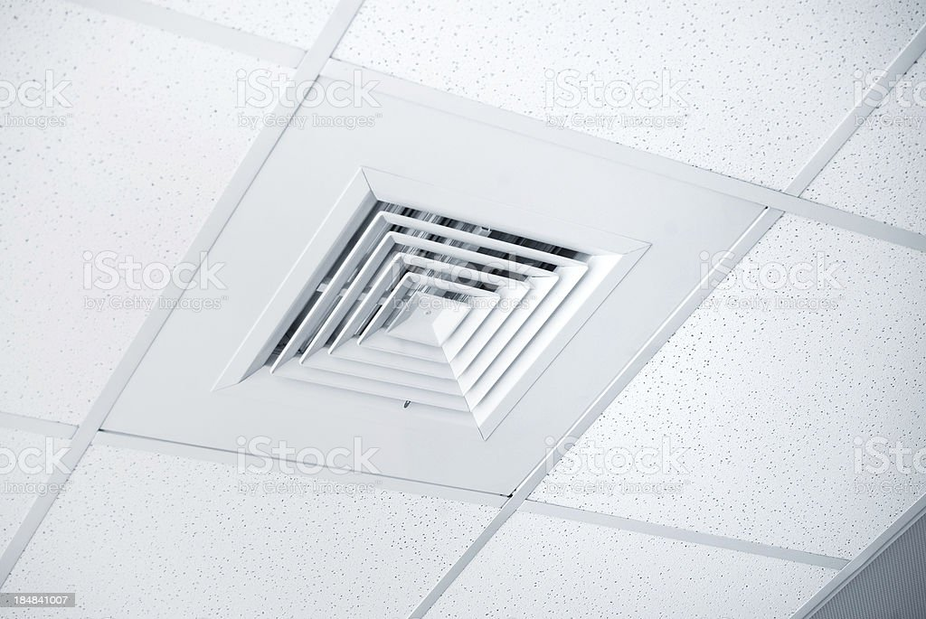 Air Condition Vent In Office Ceiling Stock Photo More Pictures of