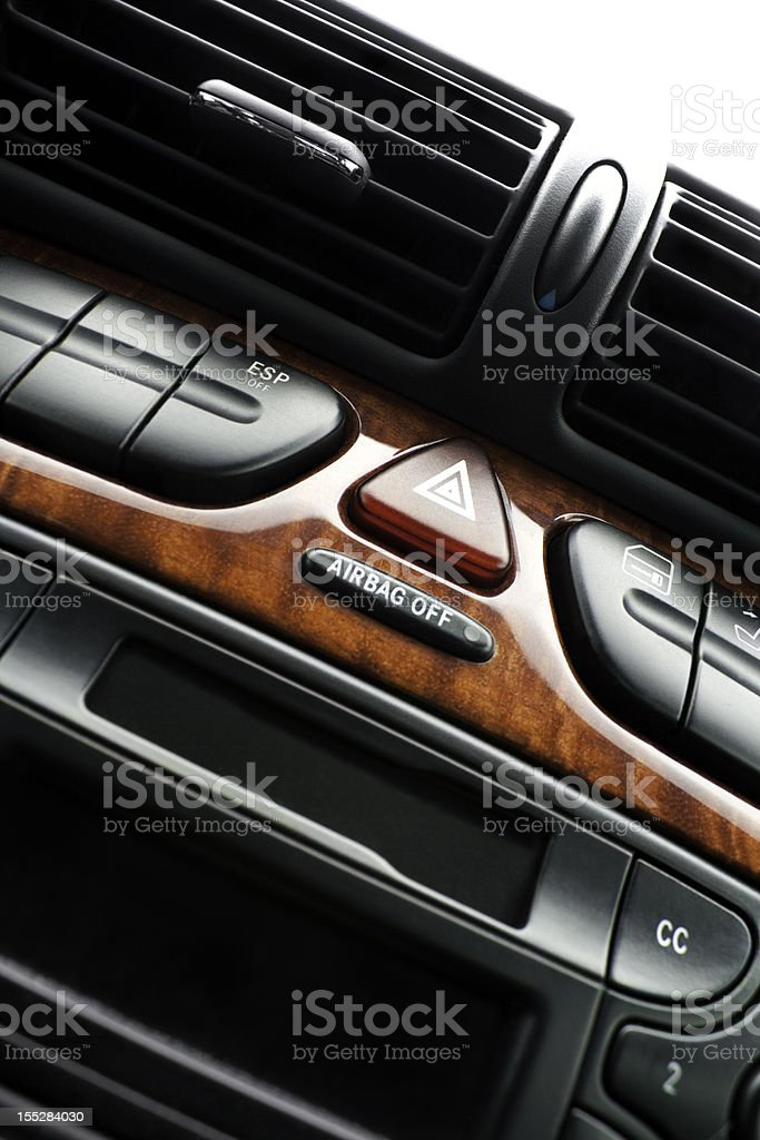 Air condition Warning Triangle knob cassette royalty-free stock photo