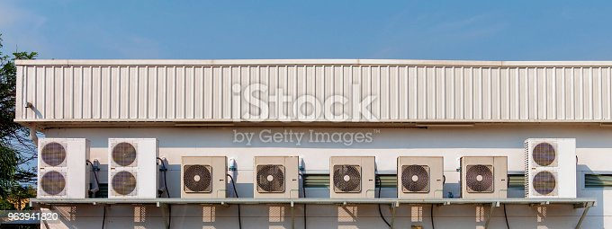 871063730istockphoto Air conditioner. Air conditioner outside of building. 963941820