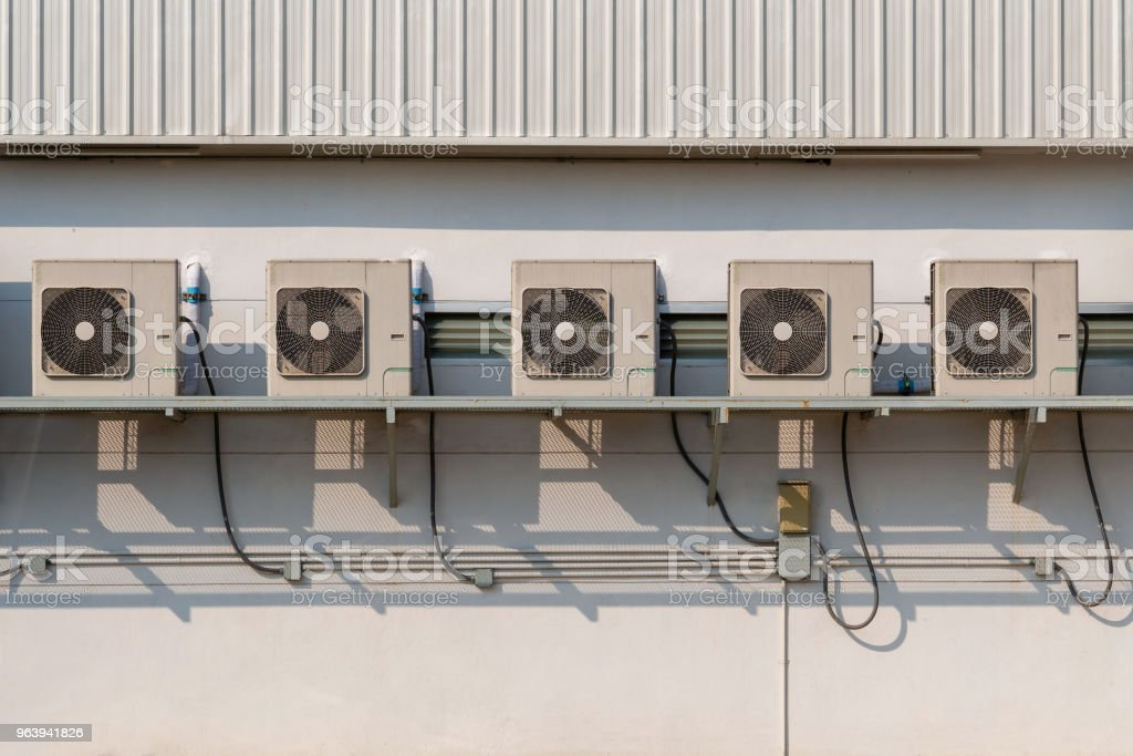 Air conditioner. Air conditioner outside of building. - Royalty-free Air Conditioner Stock Photo