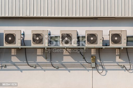 871063730istockphoto Air conditioner. Air conditioner outside of building. 963941826