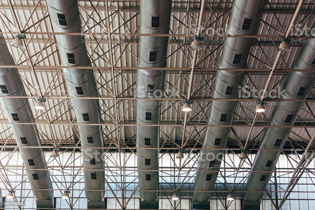 air conditioner, architecture of building exterior stock photo