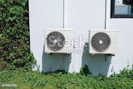 871063730 istock photo Air conditioner condenser unit 875591830