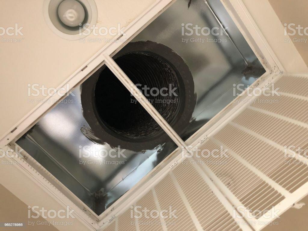 Air conditioner duct zbiór zdjęć royalty-free