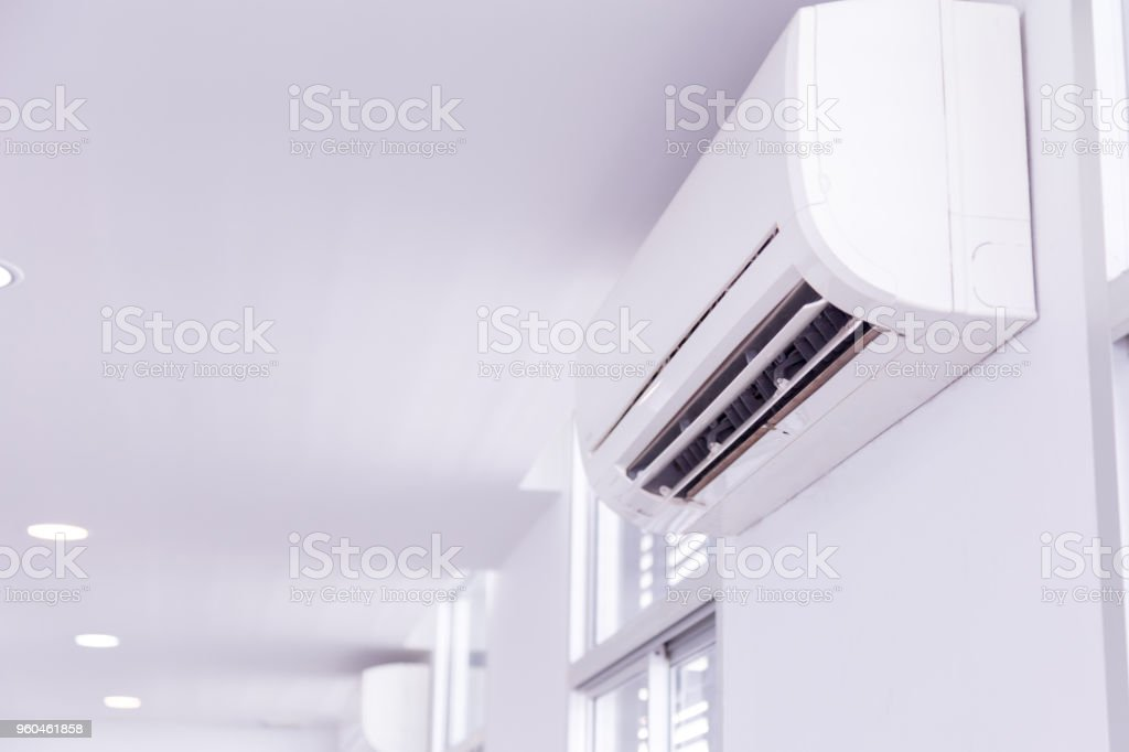 Air conditioner inside the room stock photo