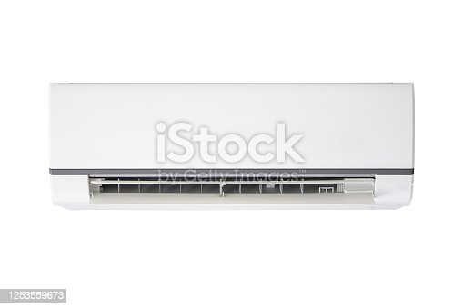 623610196 istock photo Air conditioner isolated on white background 1253559673