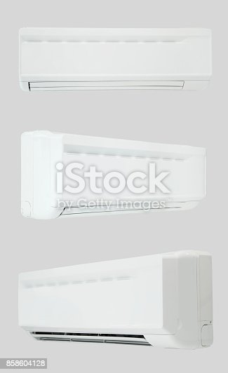 istock air conditioner on a light background 858604128