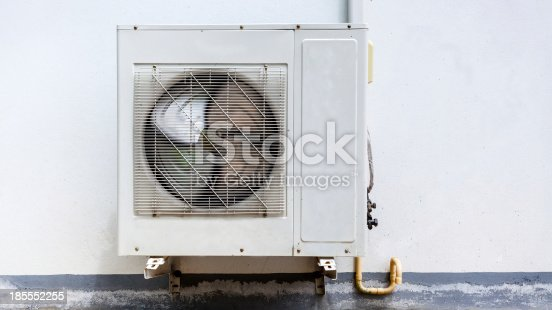 istock Air conditioner on wall house 185552255