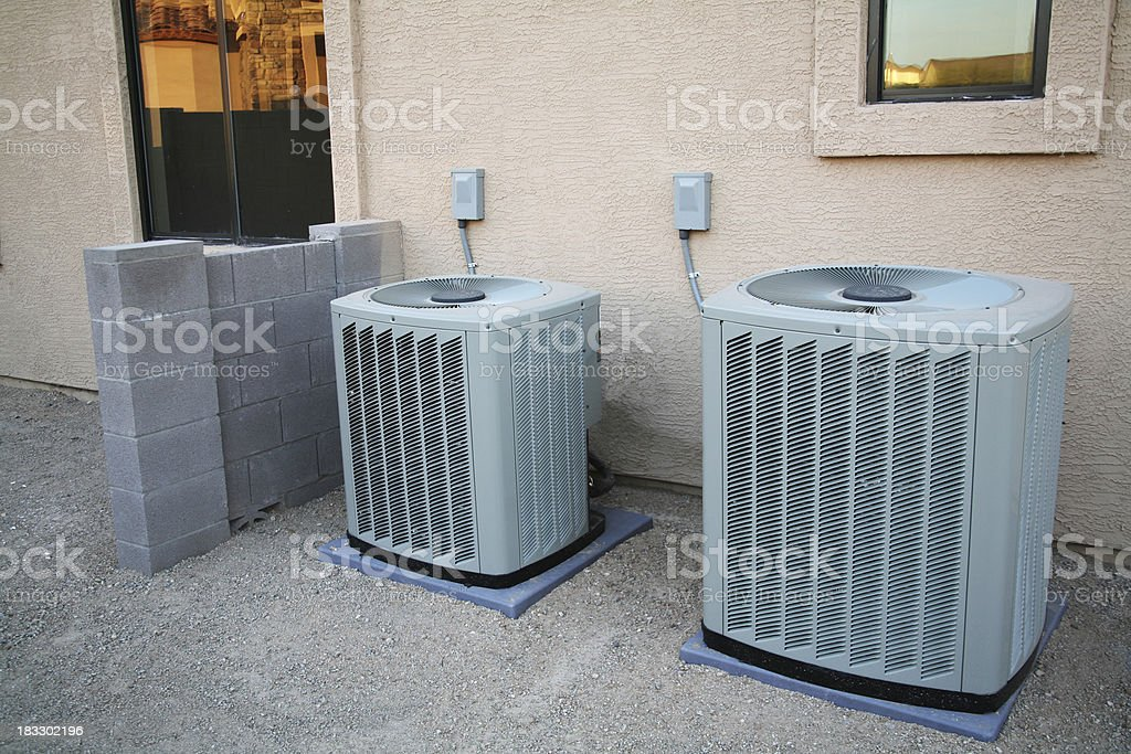 Air Conditioner Pair royalty-free stock photo