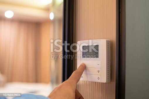 air conditioner panel on wall