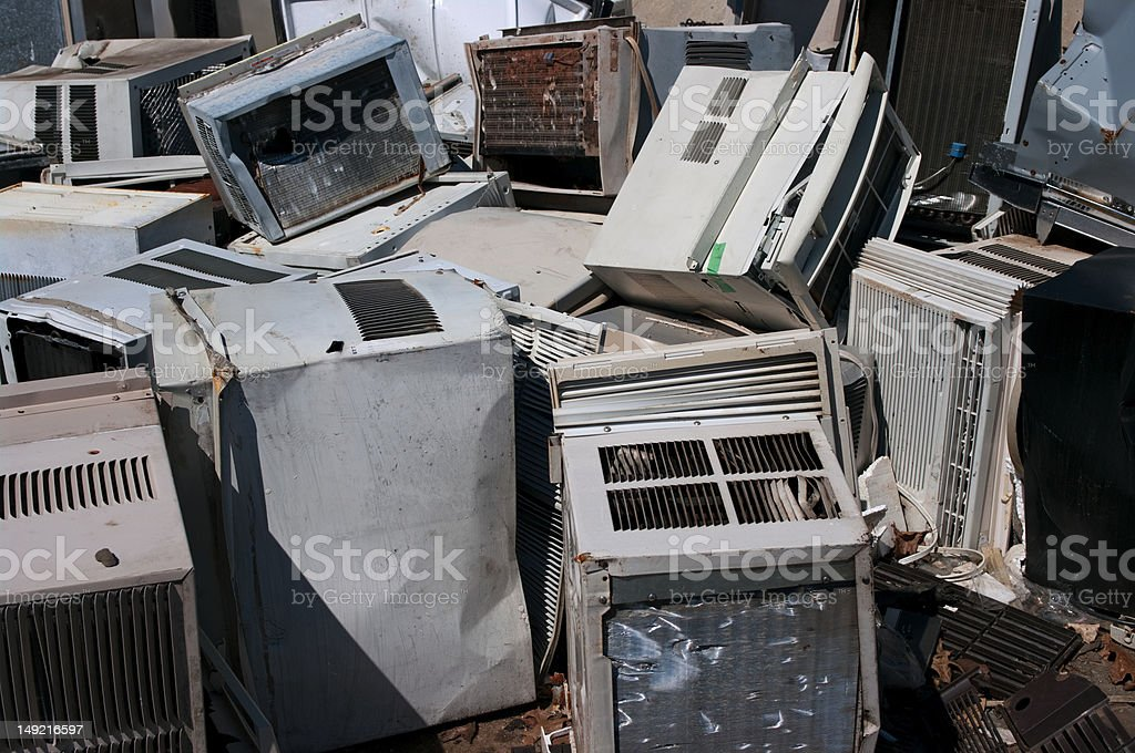 Air conditioner recycling stock photo
