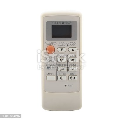 istock air conditioner remote control isolated on white background 1131834287