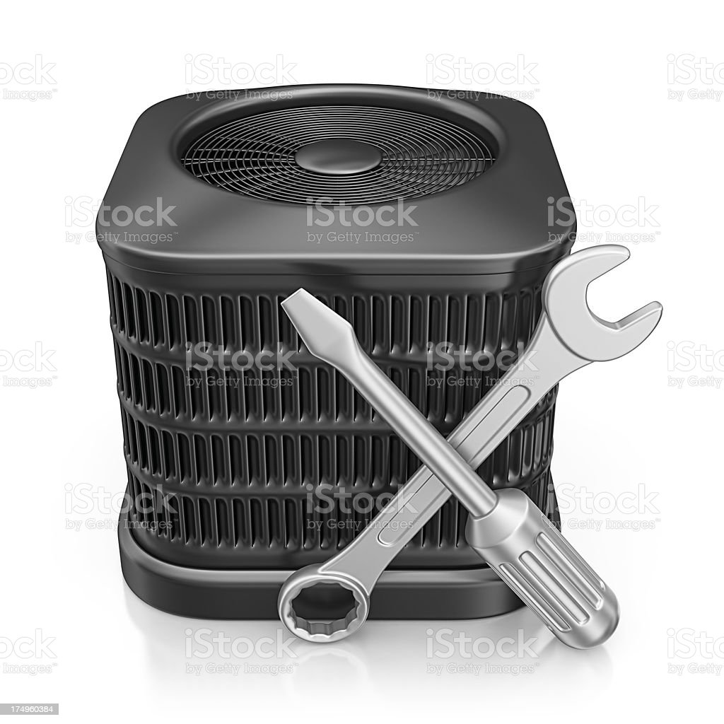 air conditioner service royalty-free stock photo