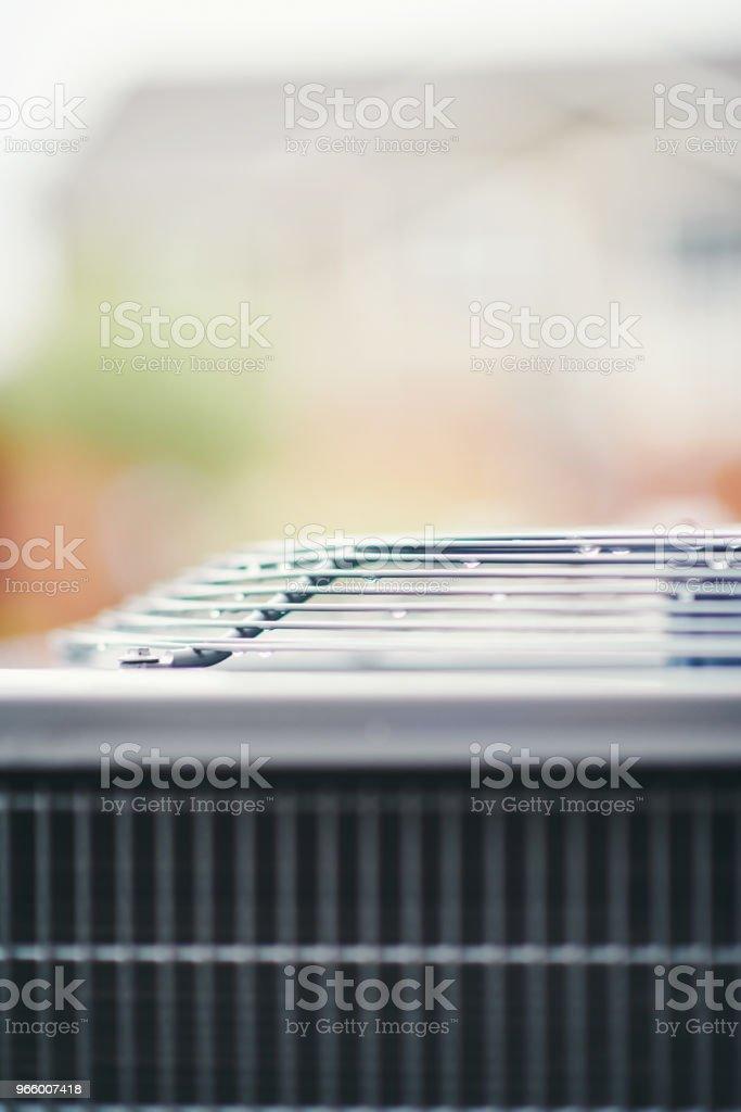 Klimagerät in Wohn Garten - Lizenzfrei Ausrüstung und Geräte Stock-Foto