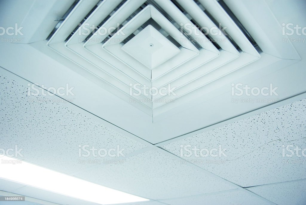 air conditioner vent close up in ceiling stock photo