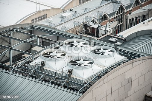 istock Air Conditioner ventilation system on building rooftop 857577962