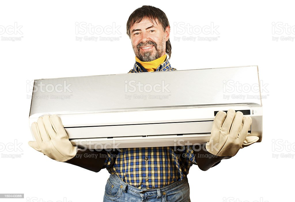 Air conditioning adjuster royalty-free stock photo