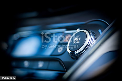 istock Air conditioning button inside a car 905234542