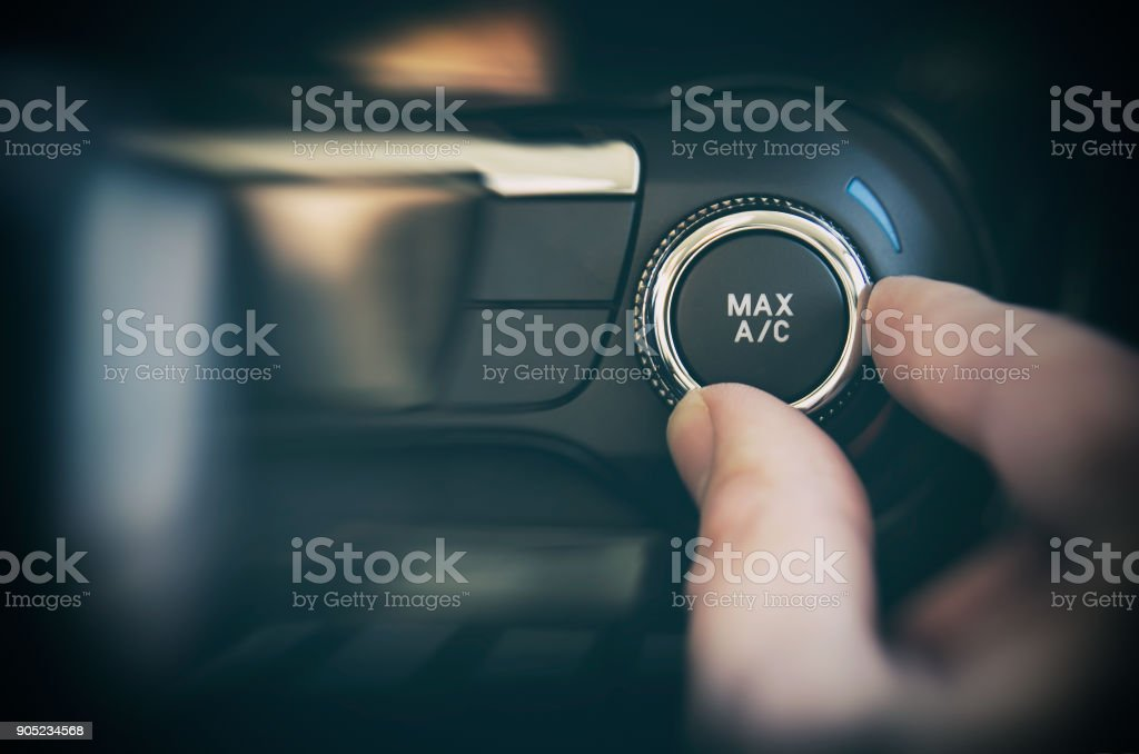 Air conditioning button inside a car – zdjęcie