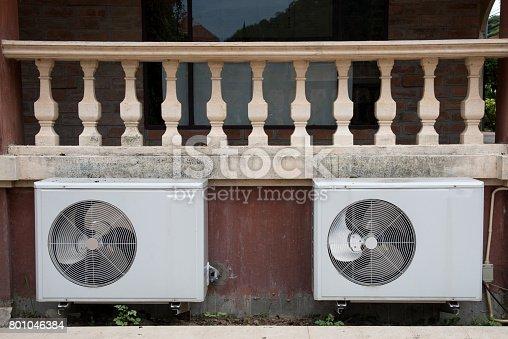 871063730 istock photo Air conditioning compressor unit 801046384