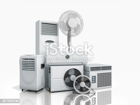istock air conditioning equipment 3d rensder on white background 827555236