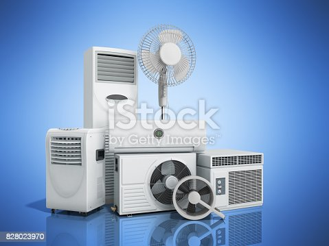 istock air conditioning equipment 3d rensder on white background 828023970