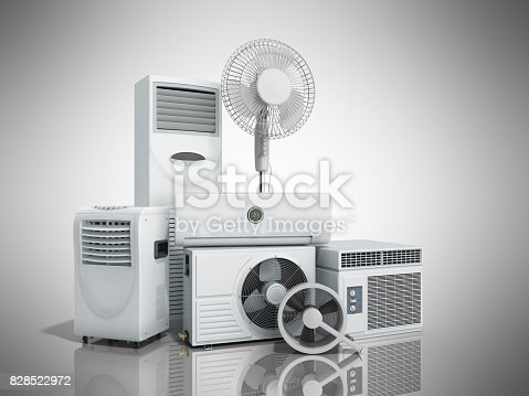 istock air conditioning equipment 3d rensder on white background 828522972