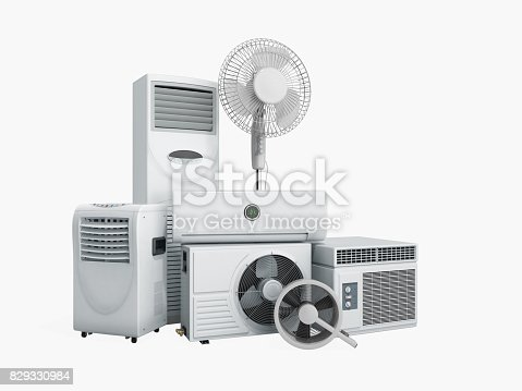 istock air conditioning equipment 3d rensder on white background 829330984