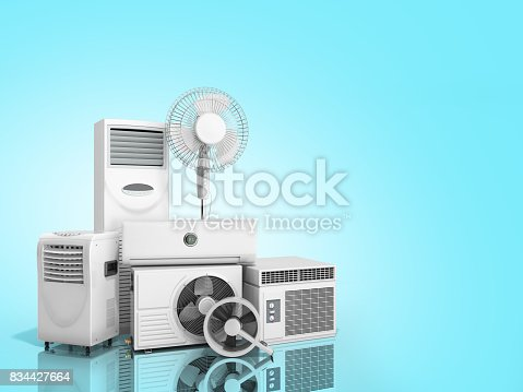 istock air conditioning equipment 3d rensder on white background 834427664