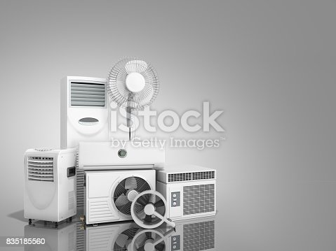 istock air conditioning equipment 3d rensder on white background 835185560