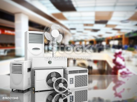 istock air conditioning equipment 3d rensder on white background 836501946