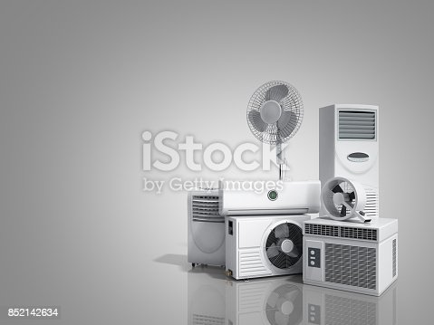 istock air conditioning equipment 3d rensder on white background 852142634