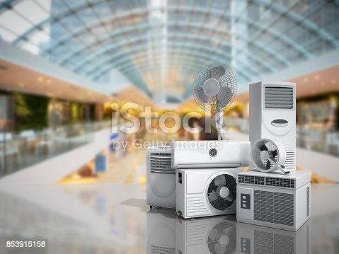 istock air conditioning equipment 3d rensder on white background 853915158