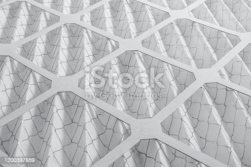 An air conditioning filter on a white background.