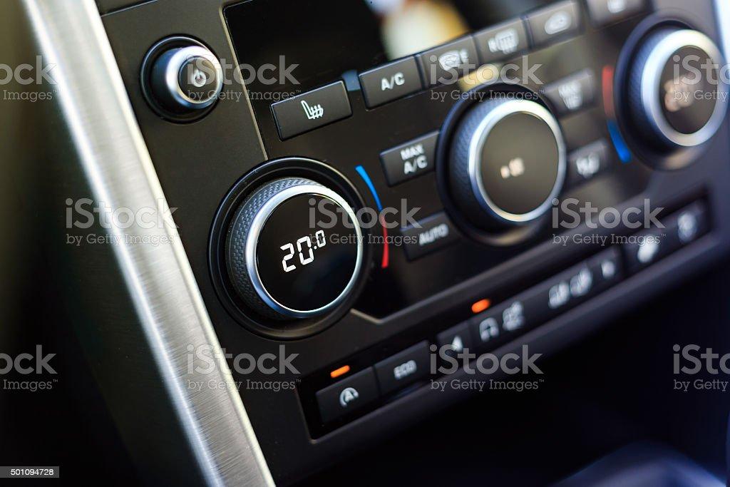 Klimaanlage knob, die optimale Temperaturregulierung – Foto