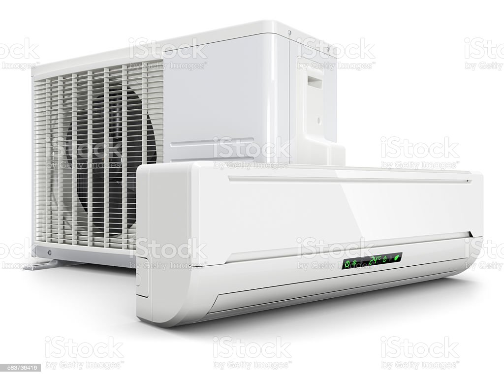 Air conditioning split system stock photo