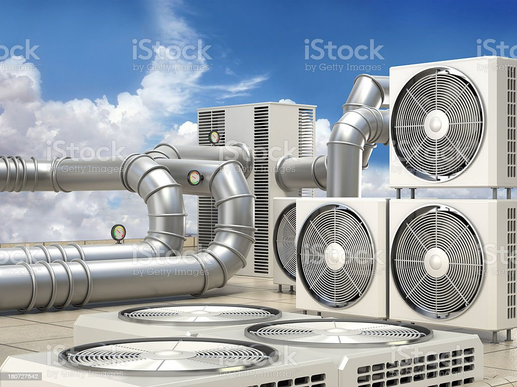 Air conditioning system stock photo