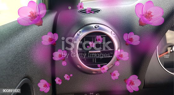 istock air conductors car air condition aroma flowers pink 900891532