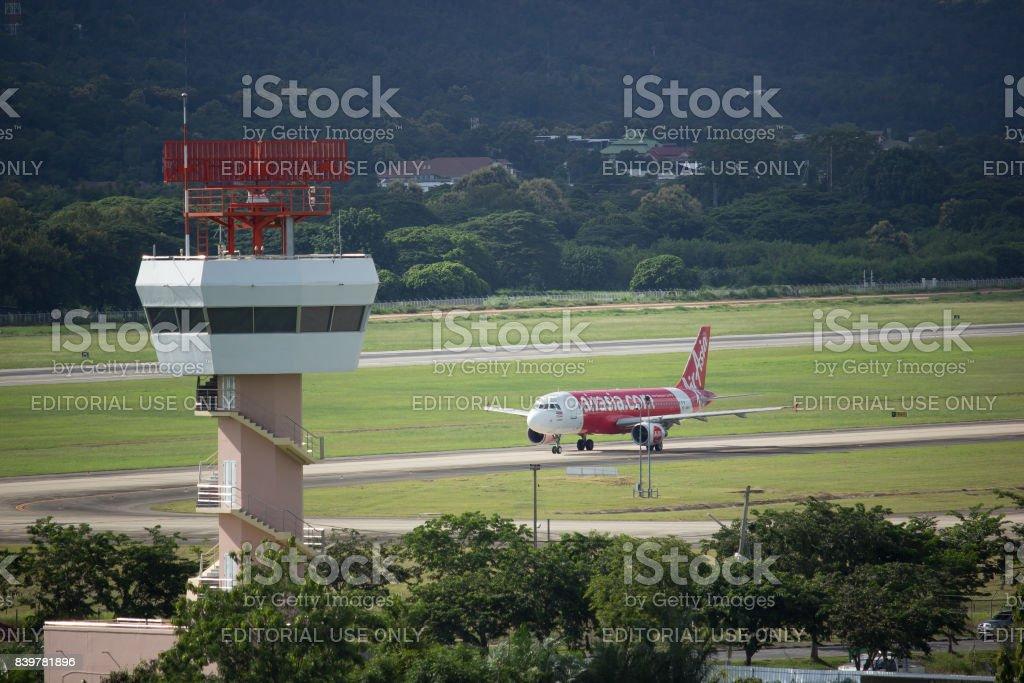 Air Control Tower Of Chiangmai International Airport Stock Photo
